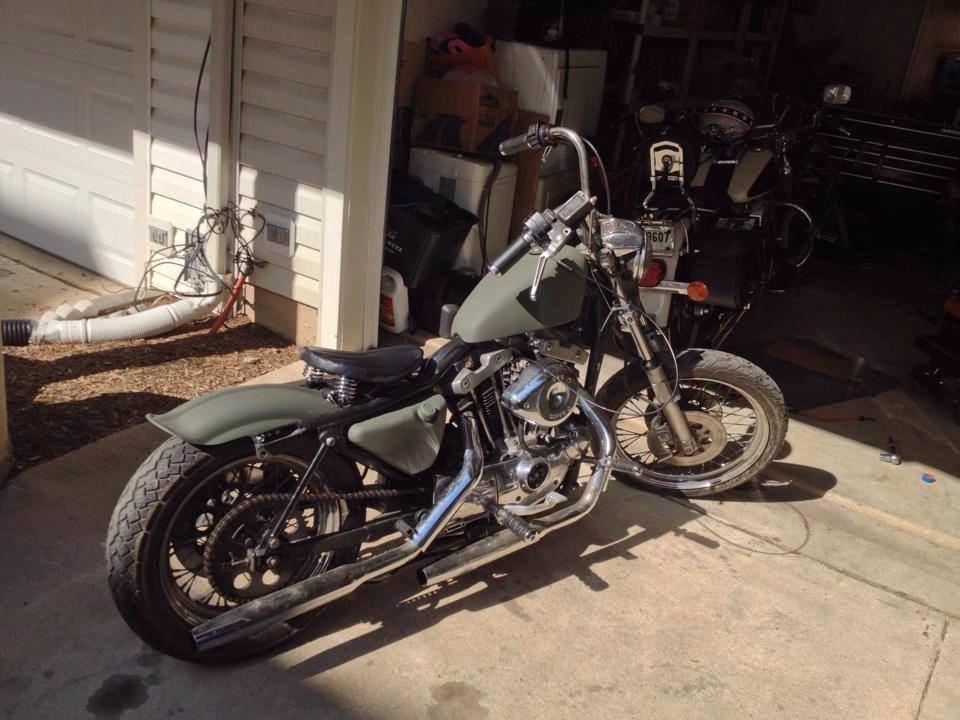 Sideview on 1974 Harley Davidson Sportster